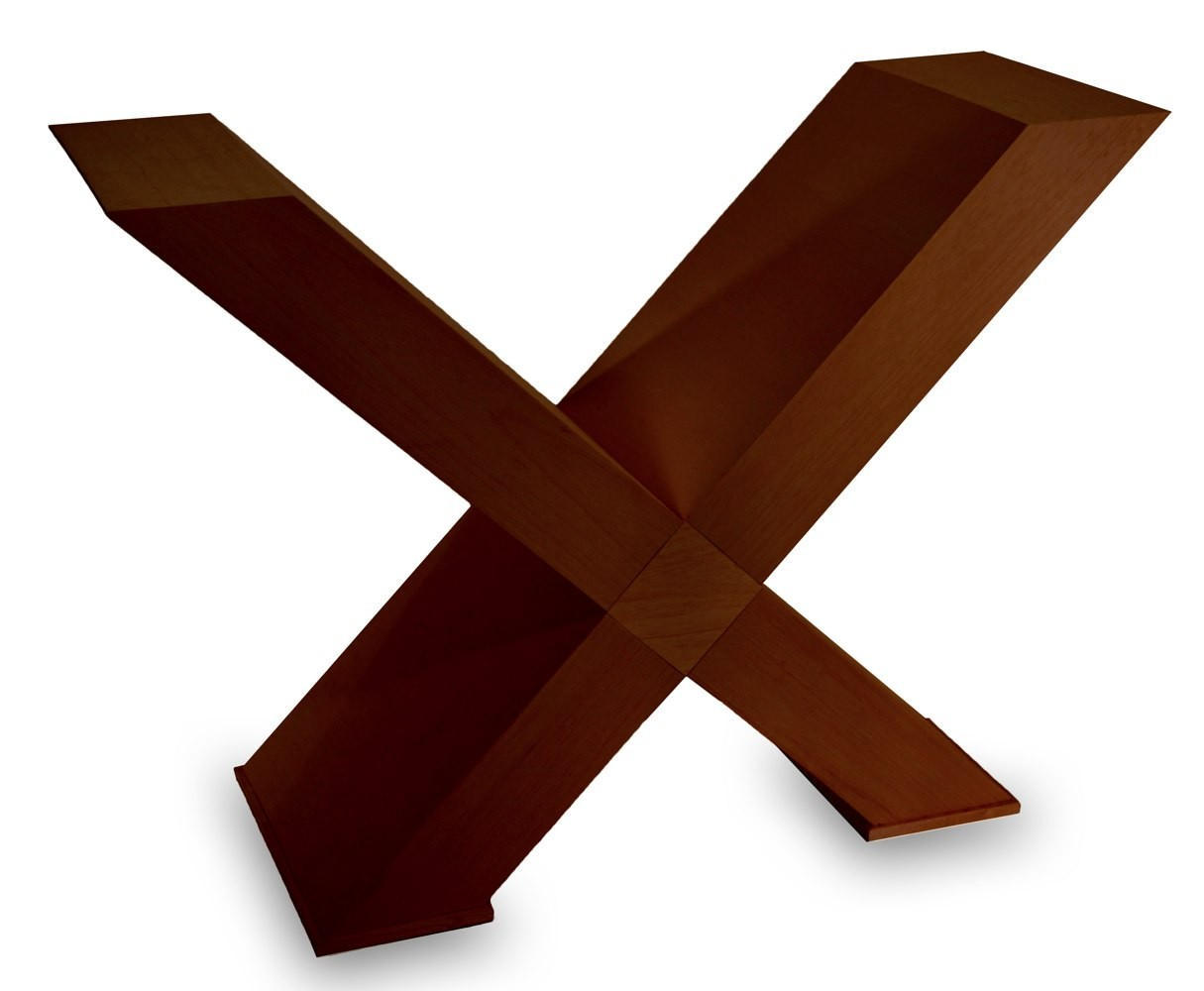 Base de mesa x reta imbuia Fabrica de bases para mesas