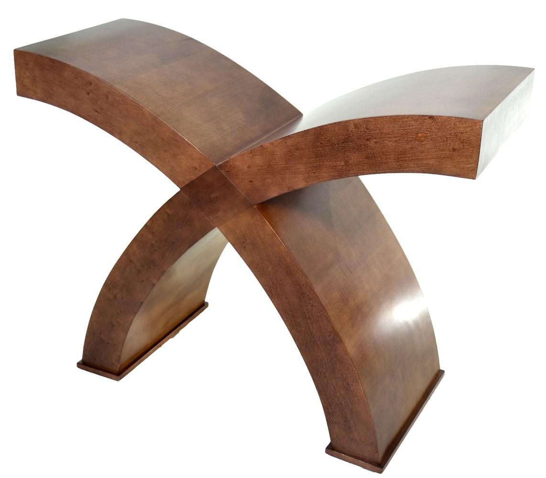 Base de mesa x curva imbuia for Bases de mesas cromadas