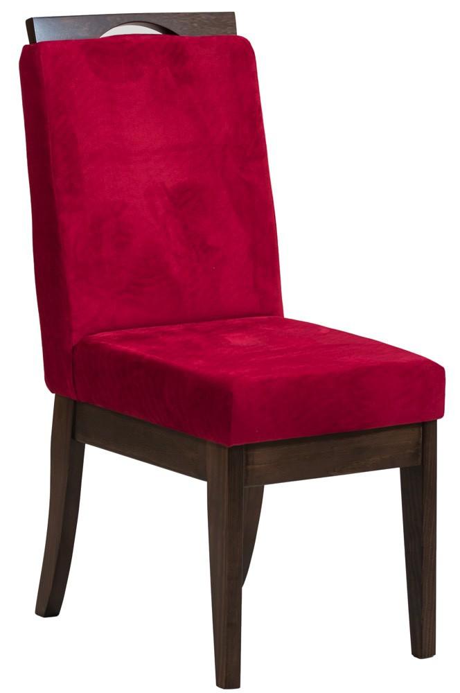 Cadeira Komfort - Verniz Capuccino e Vermelho + Opções