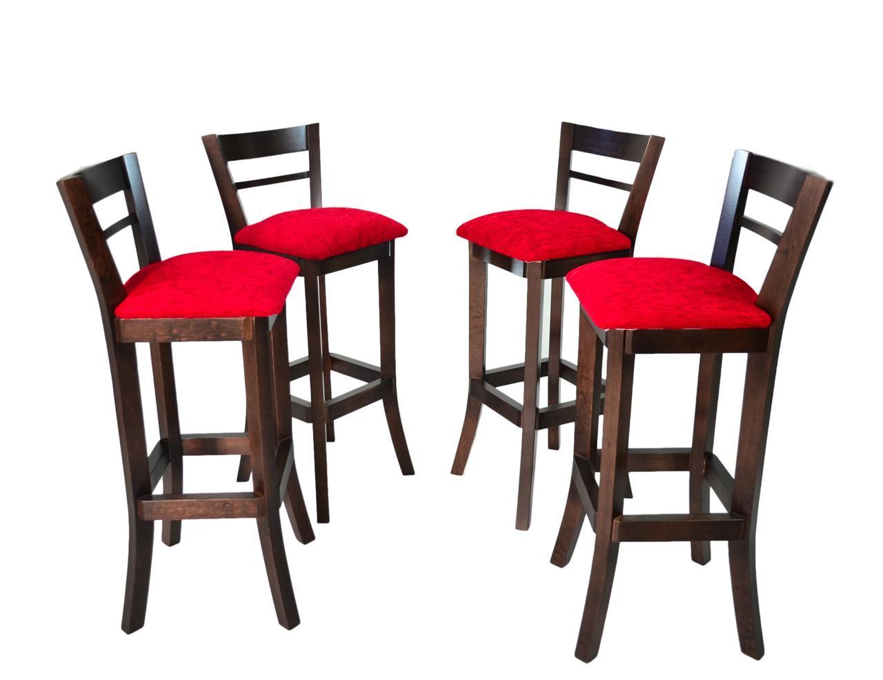 Banqueta Alta com Encosto em madeira maciça com verniz Capuccino e  #CA0123 1280x986
