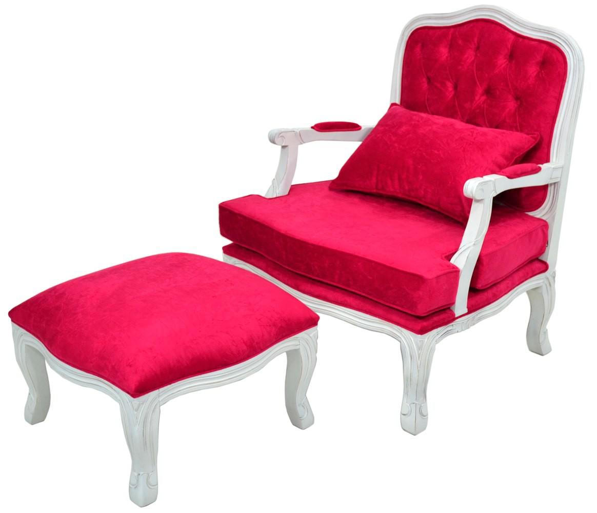 Poltrona king com capiton proven al branco e vermelho puff for Poltrona puffo