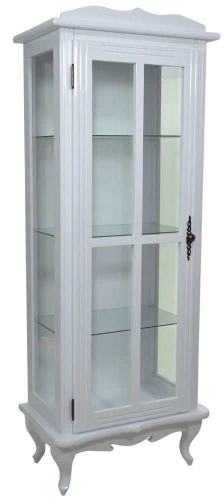 Cristaleira Colorida 1 Porta Com Aberturas Laterais Branca