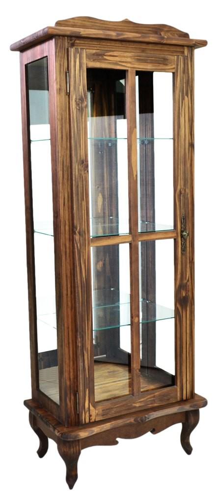 Cristaleira Em Cera 1 Porta Com Aberturas Laterais E Fundo