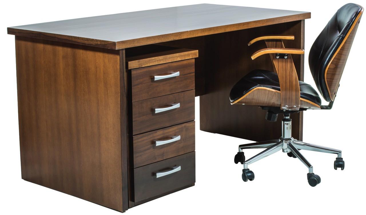 Mesa Escrivaninha com Gaveteiro Verniz Capuccino + Cores