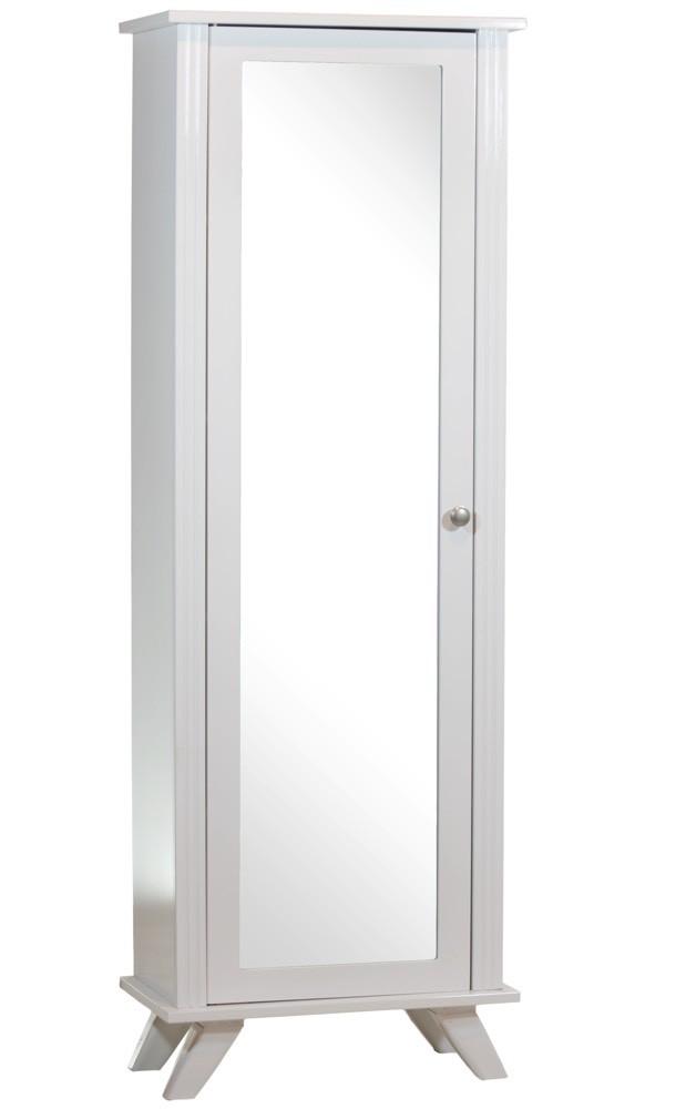Estante 4 Prateleiras com Porta e Espelho Branca + Cores