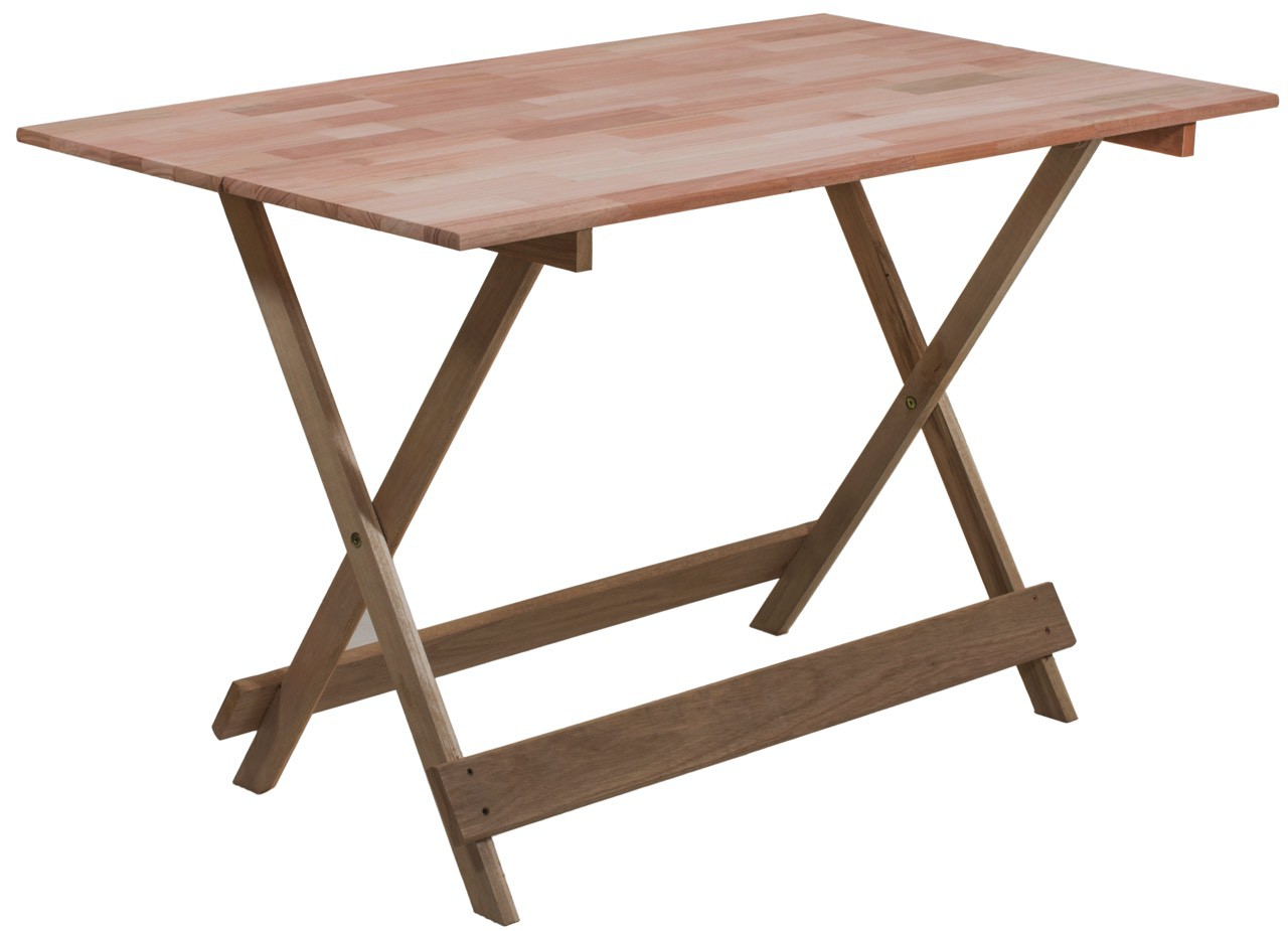 Mesa dobr vel 120x70cm em madeira maci a for Mesa jardin 120 x 70