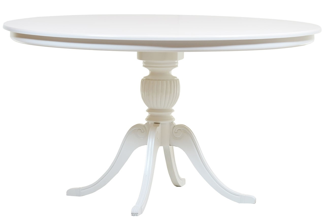 Mesa entalhada redonda carla laqueada branco cores for Mesa redonda infantil