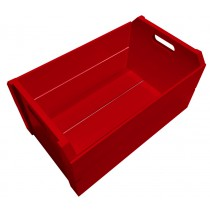 Caixote Colorido Grande - Vermelho