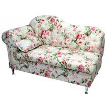 Chaise Longue Estofada 2 Lugares - Floral Rosa