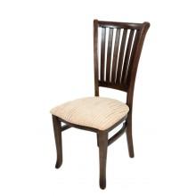 Cadeira Plaza I Capuccino e Creme Listrado