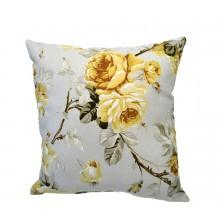 Almofada Floral Rosas Amarelas - 3 Opções de Tamanho