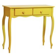 Aparador Luis XV Colorido com Duas Gavetas - Amarelo