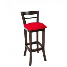 Banqueta Alta com Encosto - Capuccino e Vermelho