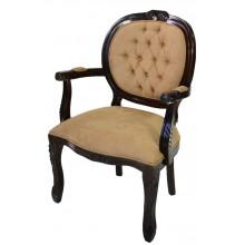 Cadeira Medalhão II Entalhada - Capuccino e Caramelo