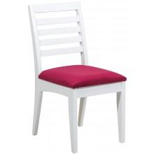 Cadeira com Encosto Horizontal Branca e Vermelha + Cores