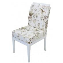Cadeira Komfort II - Branca com Flores Café