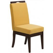 Cadeira Komfort - Verniz Capuccino e Amarelo + Opções