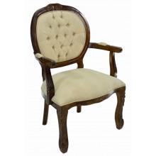 Cadeira Medalhão II Entalhada - Capuccino e Bege Texturizado