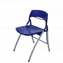 Cadeira Plástica Dobrável - Azul