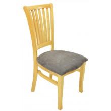 Cadeira Plaza Natural com Marrom Texturizado