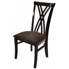 Cadeira Xis Duplo - Capuccino e Veludo Amassado Marrom