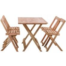 Conjunto Mesa Dobrável 120x70cm com 4 Cadeiras Dobráveis