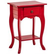 Criado Mudo Colorido 1Gaveta Luis XV - Vermelho