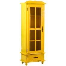 Cristaleira Colorida 1 Porta / 1 Gaveta - Amarelo
