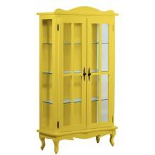 Cristaleira Colorida 2 Portas e Aberturas Laterais - Amarela