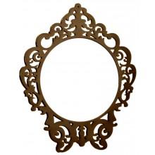 Espelho Clássico Redondo Médio - Capuccino