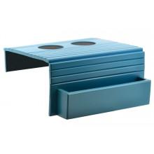 Esteira para Braço de Sofá com Porta Controle e Apoio de Copo - Azul