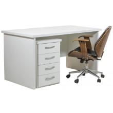 Mesa Escrivaninha com Gaveteiro Verniz Branca + Cores