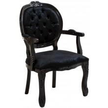 Cadeira Medalhão II Entalhada - Preta Brilhante