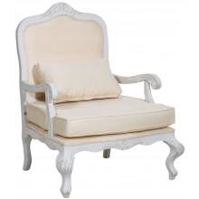 Poltrona Rei Luis XV - Branco e Creme