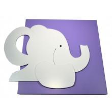Quadro Infantil 3D - Elefantinho