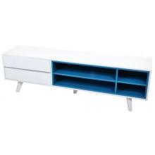 Rack Colors 2 Gavetas - Branco e Azul