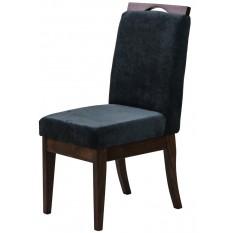 Cadeira Komfort - Verniz Capuccino e Azul Escuro + Opções