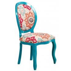 Cadeira Medalhão III Lisa - Azul Turquesa Provençal