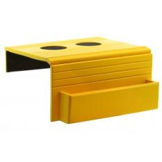 Esteira para Braço de Sofá com Porta Controle e Apoio de Copo - Amarela