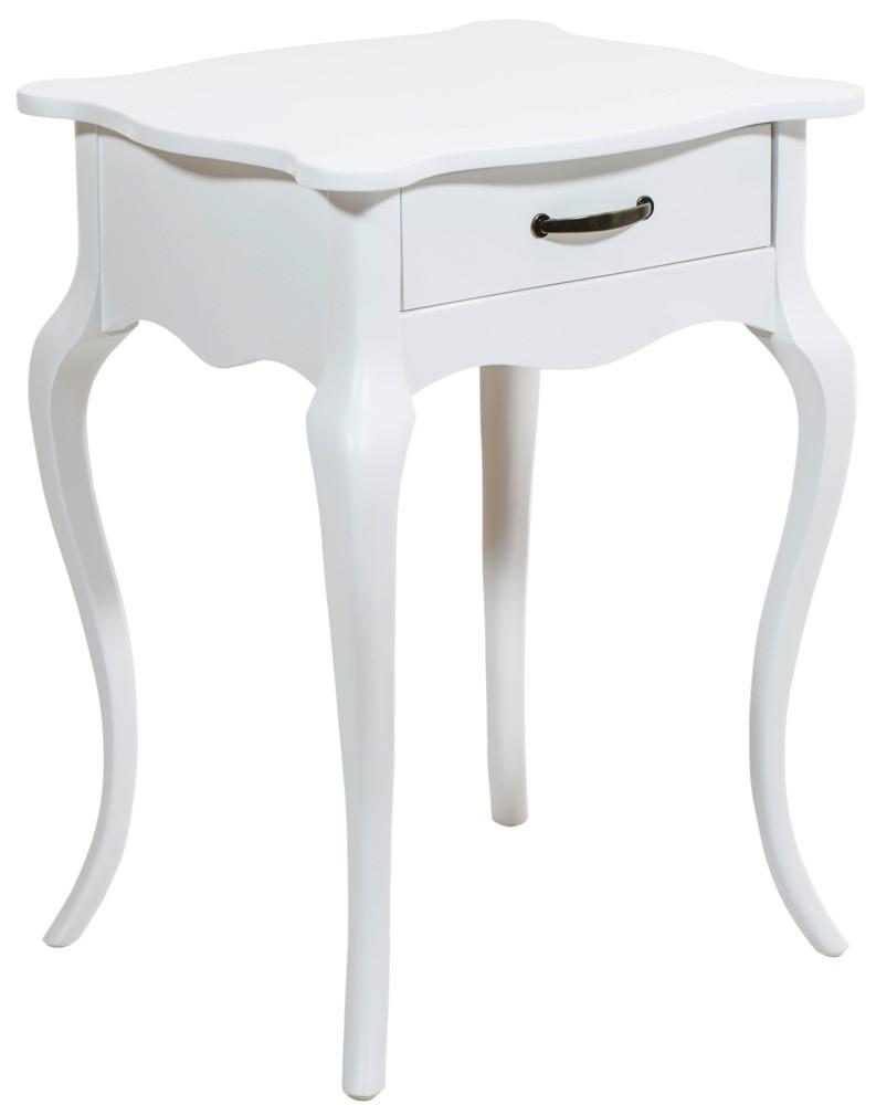 Criado Mudo Luis XV 1 Gaveta Branco + Cores