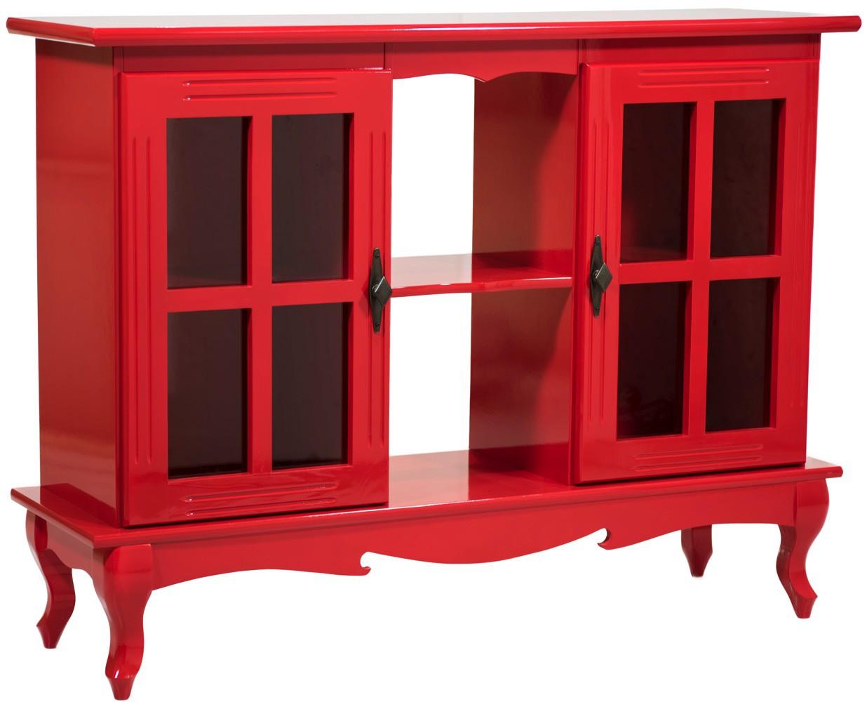 Cristaleira Horizontal 2 Portas - Vermelha