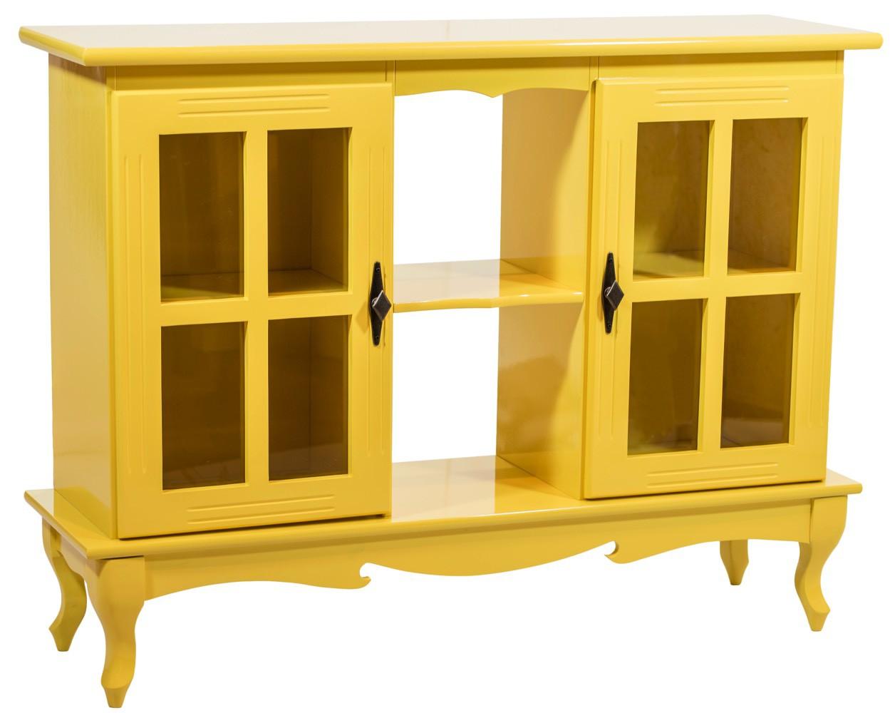 Cristaleira Horizontal 2 Portas - Amarela