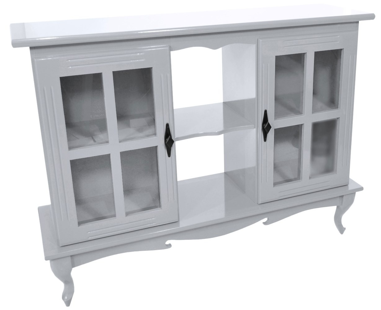 Cristaleira Horizontal 2 Portas - Branca
