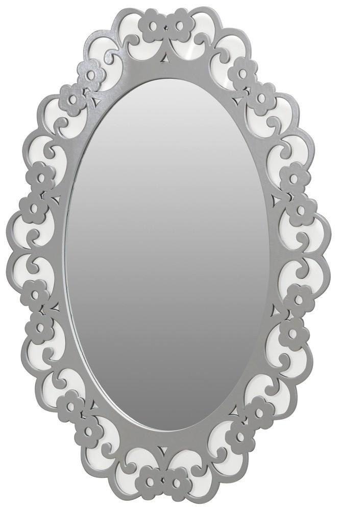 Espelho Clássico Oval Tipo 3 Branco + Cores