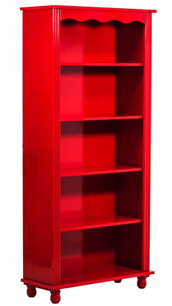 Estante Colorida 4 Prateleiras - Vermelha