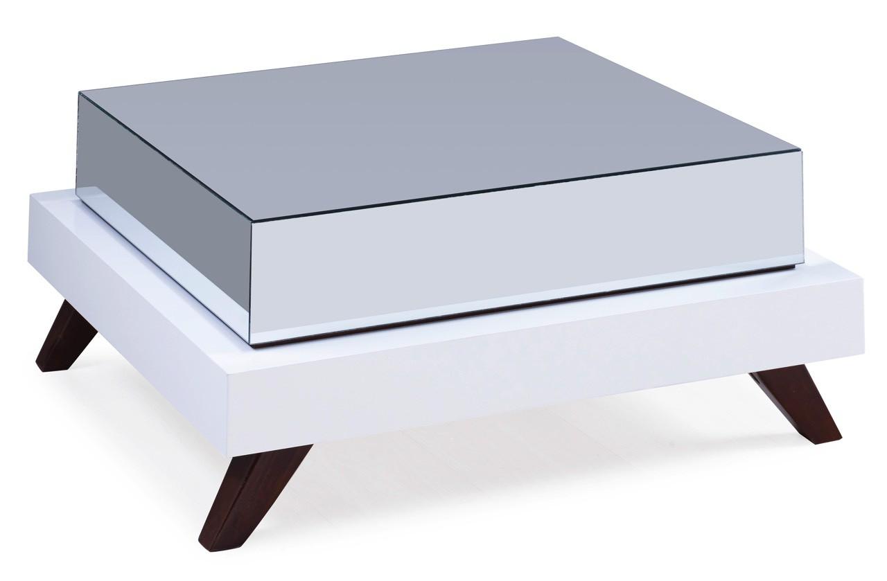 Mesa de Centro Espelhada Branca + Opções de Cores