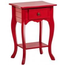 Criado Mudo Colorido 1 Gaveta Luis XV - Vermelho