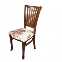 Cadeira Plaza I Pinhão e Florido Branco e Rosa
