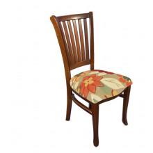 Cadeira Plaza I Pinhão e Florido Vermelho e Laranja