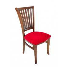 Cadeira Plaza I Capuccino e Vermelho